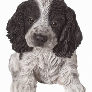 Black/White Cocker Spaniel Pup H17cm