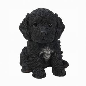 Black Cockapoo Puppy H16cm