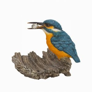 Kingfisher on Driftwood L14cm