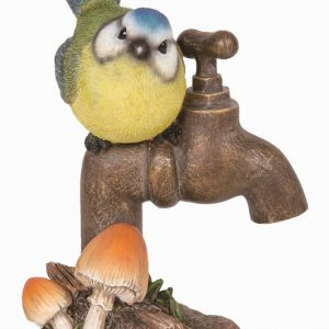 Blue Tit on Garden Tap H14cm