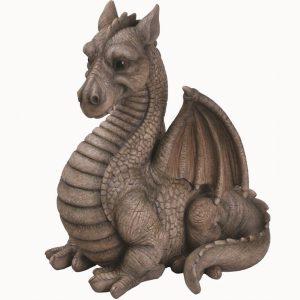 Winged Grey Dragon H51cm