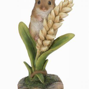 Harvest Mouse on Wheat Ear H13cm