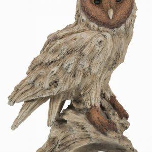 Wood Life Barn Owl H33cm