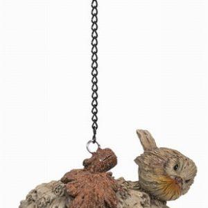 Wood Life Robin Acorn Feeder H15cm