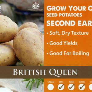 CARRIPACK SEED POTATOES 2KG BRITISH QUEEN 35-60