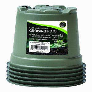 10.5cm Bio-Based Growing Pots (5)