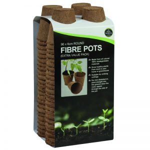 96 6cm Round Fibre Pots (Extra Value Pack)