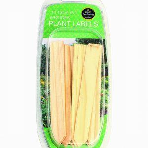 13cm (5″) Wooden Plant Labels (10);