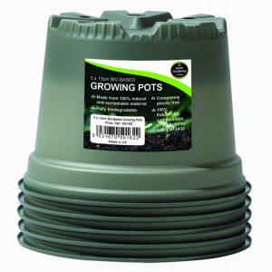 13cm Bio-Based Growing Pots (5)