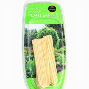 10cm (4″) Wooden Plant Labels (10);