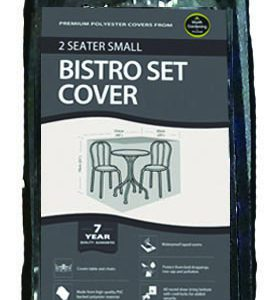 2 Seater Small Bistro Set Cover Black