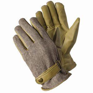 Beige Herringbone Gloves