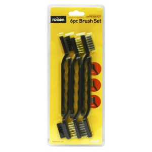 Rolson 42836 6P Mini Wire Brushes