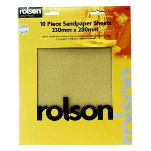 Rolson 10 Piece sandpaper