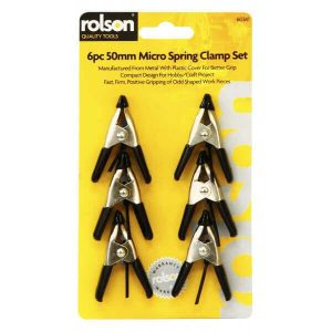Rolson 6pc 50mm Spring Clamp Set