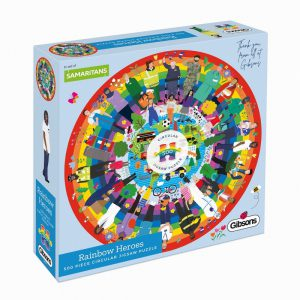 RAINBOW HEROES 500PC CIRCULAR PUZZLE