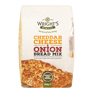 Wrights Cheese & Onion Bread Mix 500g