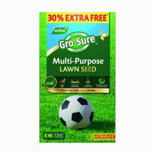 Gro-sure Multi Purpose Lawn Seed 10sq.m + 30% Extra Free