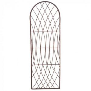 Rot-Proof Faux Willow Trellis – Round Natural 1.2 x 0.45m