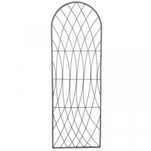 Rot-Proof Faux Willow Trellis – Round Slate 1.2 x 0.45m