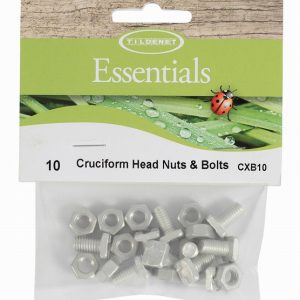 Cruciform head bolts & nuts (pack 10)