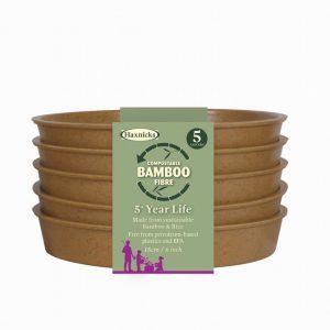 6″ Bamboo Saucer Terracotta