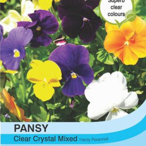 Pansy Clear Crystal Mixed